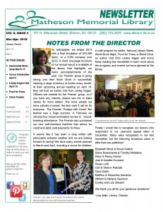 March/April 2014 Newsletter