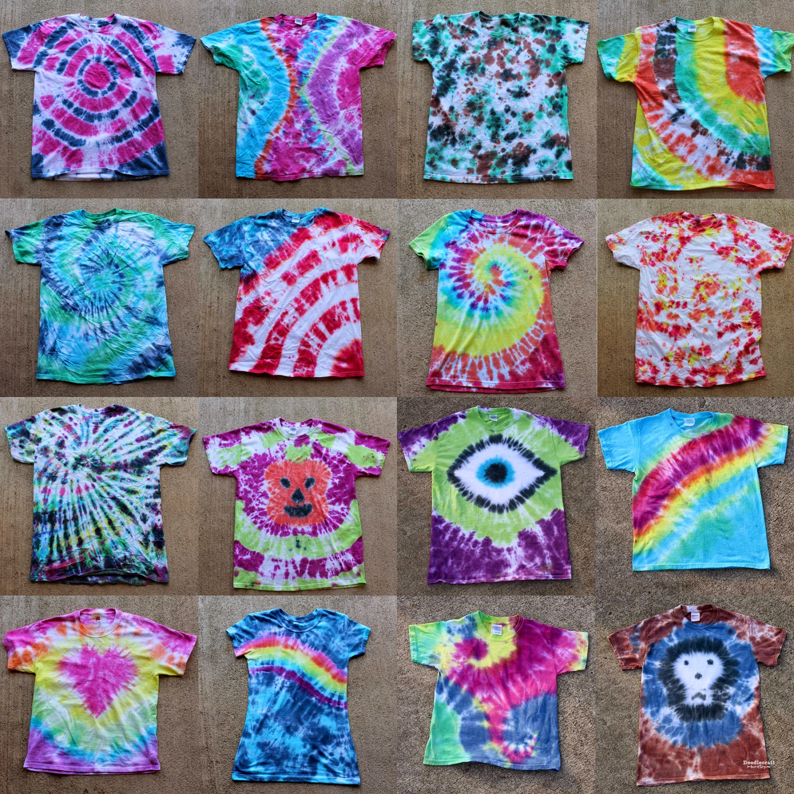 16 Awesome Tie Dye Shirts Patterns Easy Diy Matheson Memorial